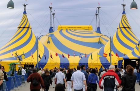 Chapiteau spiralé Cirque du Soleil VSO